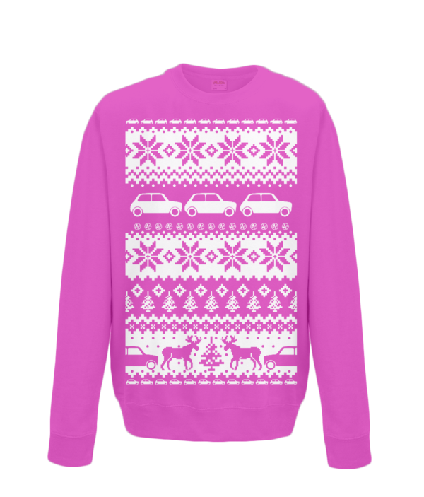 Hot Pink Kids Mini Christmas Jumper