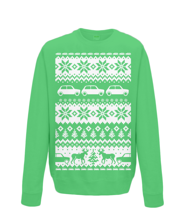 Kelly Green Kids Mini Christmas Jumper