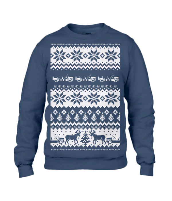Navy Adult Moke Christmas Jumper