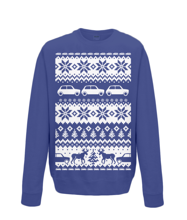 Oxford Navy Kids Mini Christmas Jumper