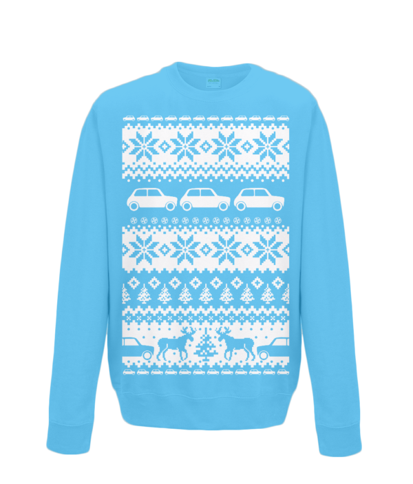 Sapphire Blue Kids Mini Christmas Jumper