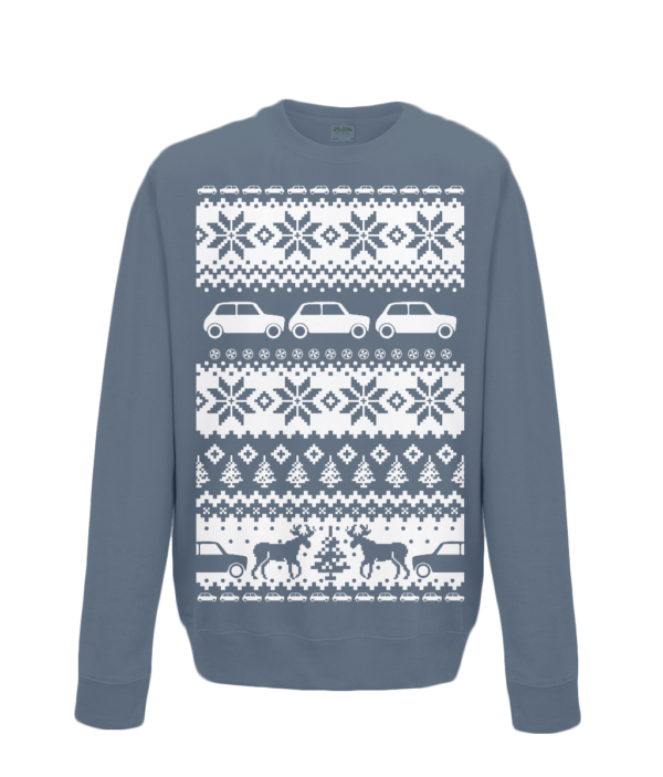 Storm Grey Kids Mini Christmas Jumper