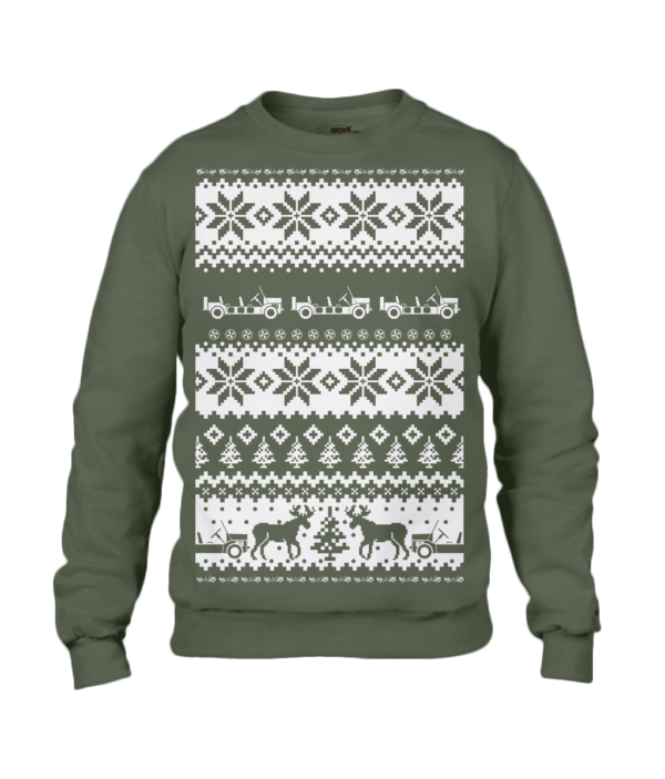 City Green Moke Christmas Jumper
