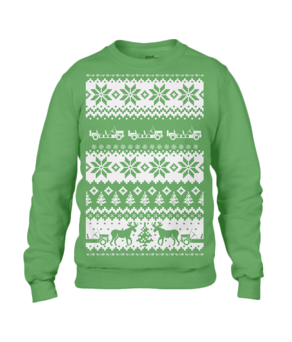 Apple Green Moke Christmas Jumper