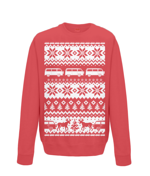 Fire Red VW Camper Christmas Jumper