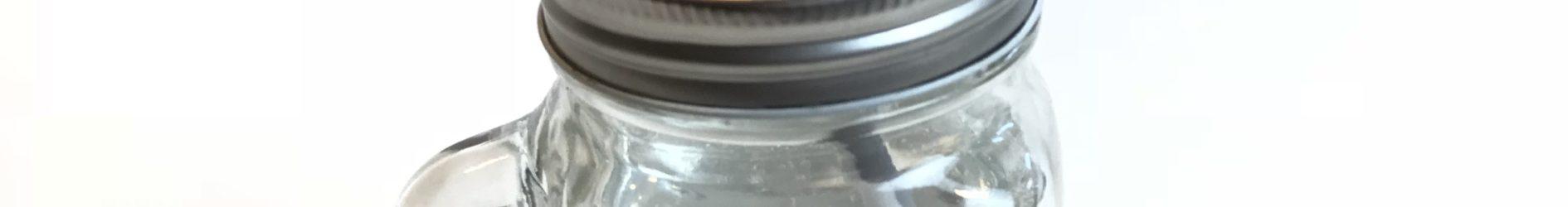 Etched Mason Drinking Jar