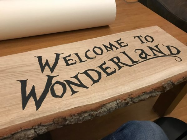 Welcome to Wonderland sign