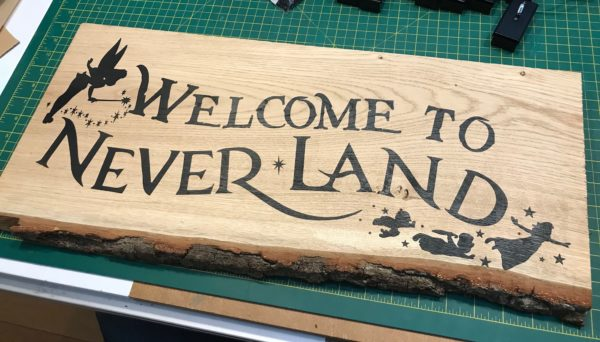Welcome to Neverland Sign
