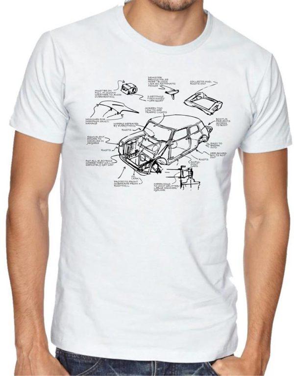 White Issigonis sketch T shirt