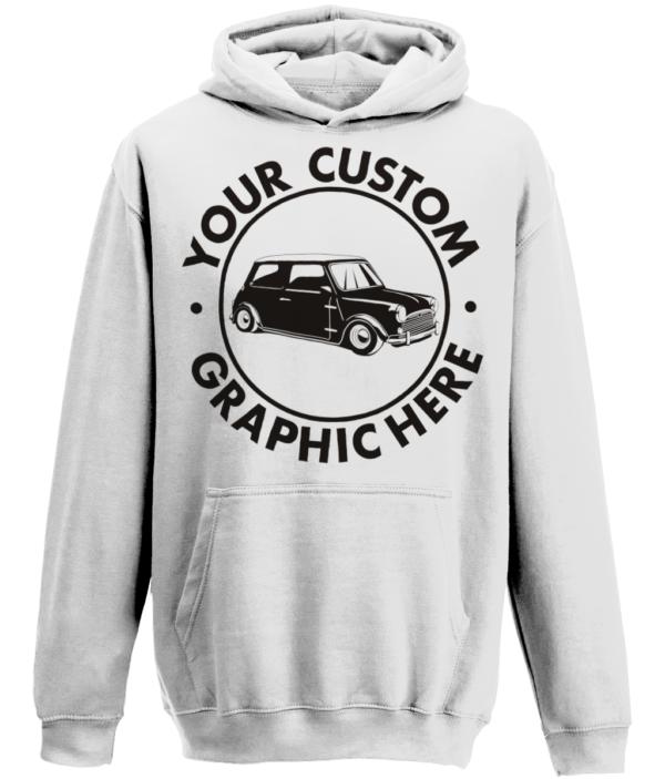 Arctic white custom hoody