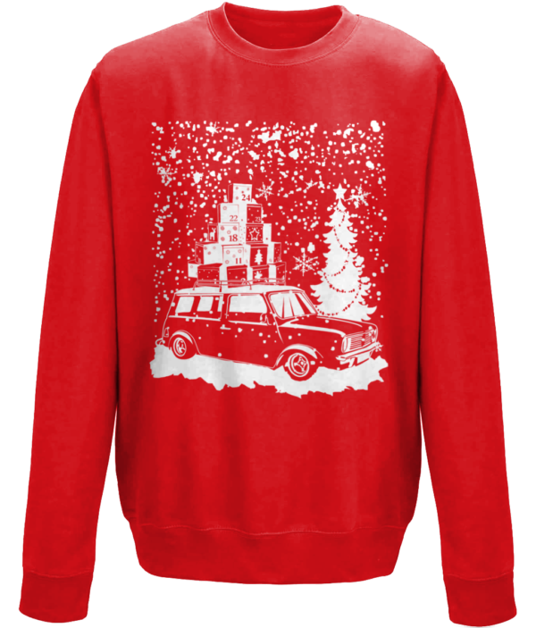 xmas 2018 clubby estate in the snow fire red