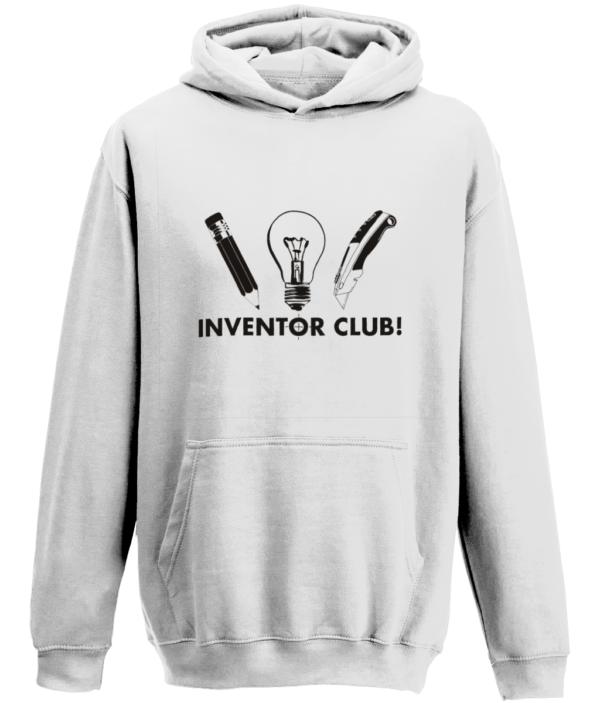 Kids Inventor club Hoodie - White
