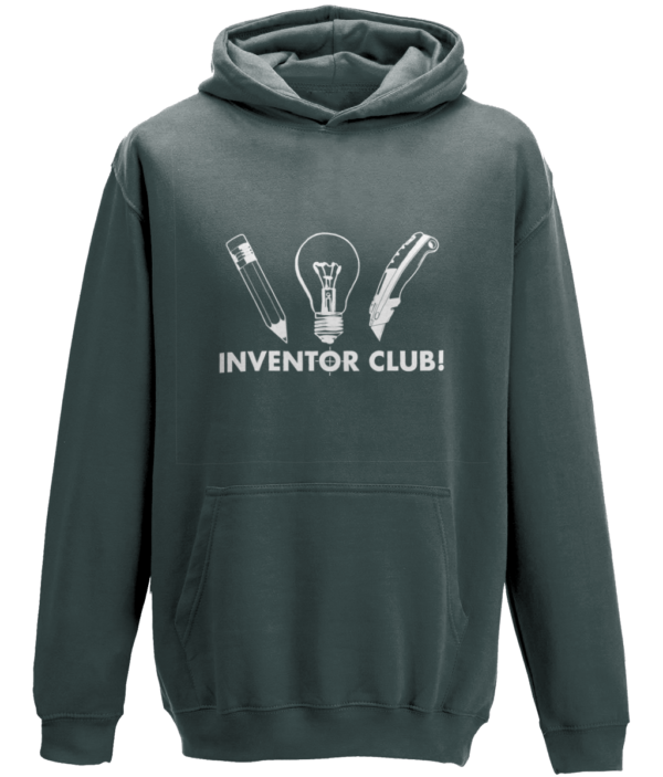 Kids Inventor club Hoodie - Charcoal