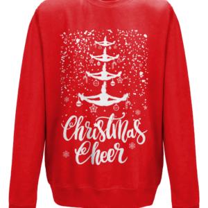 Cheer Christmas mockup - Fire Red