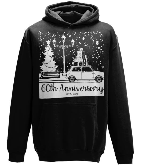 Anniversary Christmas hoodie - Jet Black