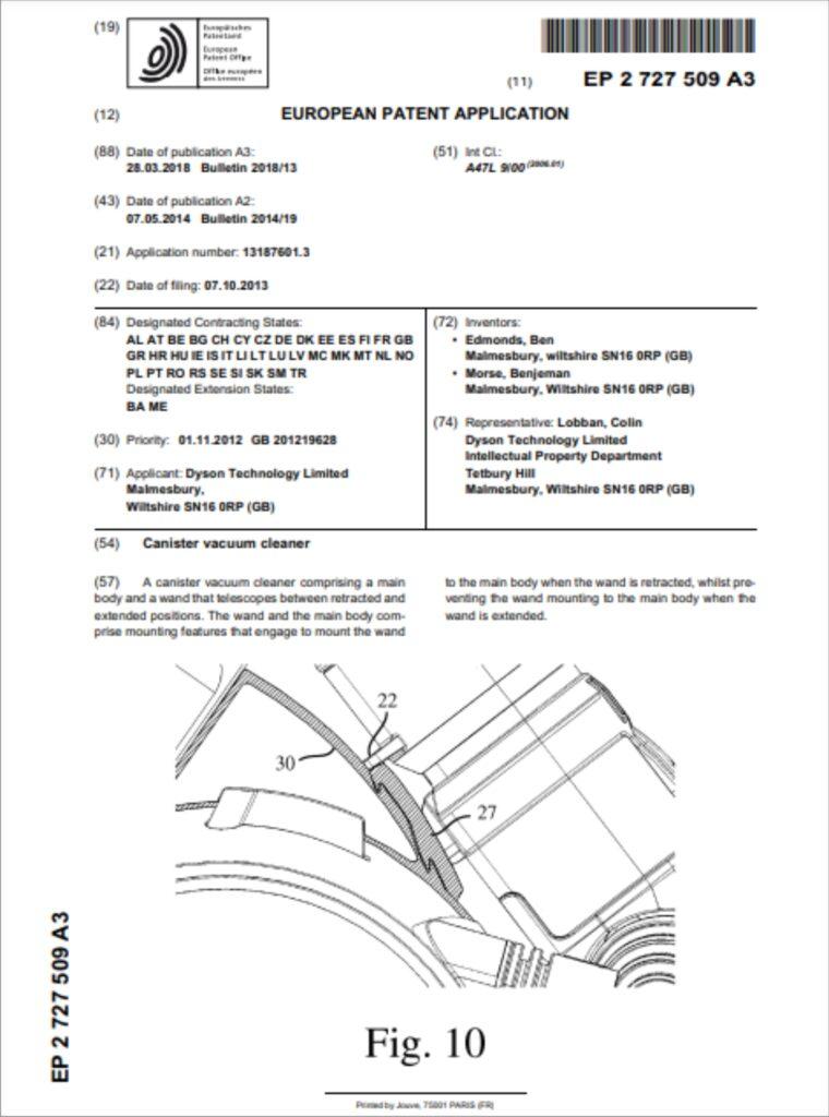 DC49 Patent